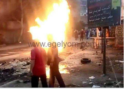 إنفجار ضخم فى الهرم بالجيزه و10 سيارات إطفاء في موقع الحادث |