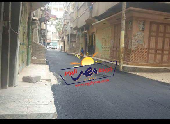 الانتهاء من رصف شارع جمال عبد الناصر بالمحور وشكر من اهالي الشارع لمحافظ دمياط |