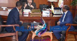 بالصور: رئيس جامعة مدينه السادات فى ظل رئاسه مصر للاتحاد الافريقى