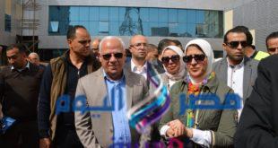 وزيرة الصحة ومحافظ بورسعيد يُدشنان الحملة القومية ضد شلل الأطفال من مركز طبى العرب ببورسعيد