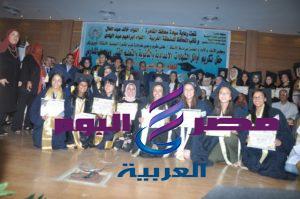 بالصور عبد الهادي يكرم أوائل إداره غرب القاهره