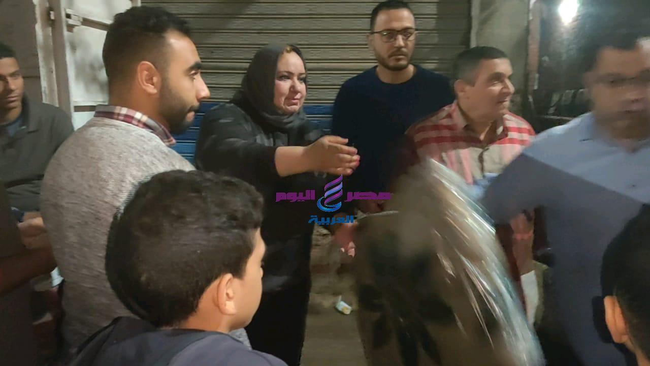 المرأة الحديدية فى شوارع مدينة المنصورة