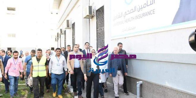 عادل الغضبان و هاله زايد يتفقدان مستشفيات الرمد والسلام ببورسعيد
