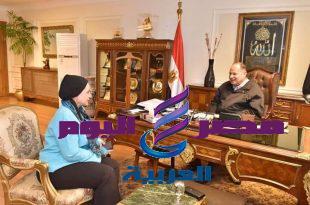محافظ أسيوط يلتقي نائب رئيس جامعة أسيوط لخدمة المجتمع