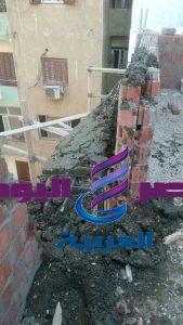 مصادرة مواد بناء لعقار مخالف بتقسيم المزلاوي بحي شرق سوهاج