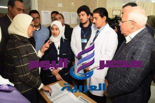 هاله زايد والغضبان يتابعان منظومة التامين الصحي الشامل بمركز طب التعاونيات ببورسعيد