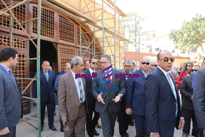 وزير الأثار والسياحة يتفقد أعمال التطوير الجارية بشجرة السيدة مريم العذراء بالمطرية |