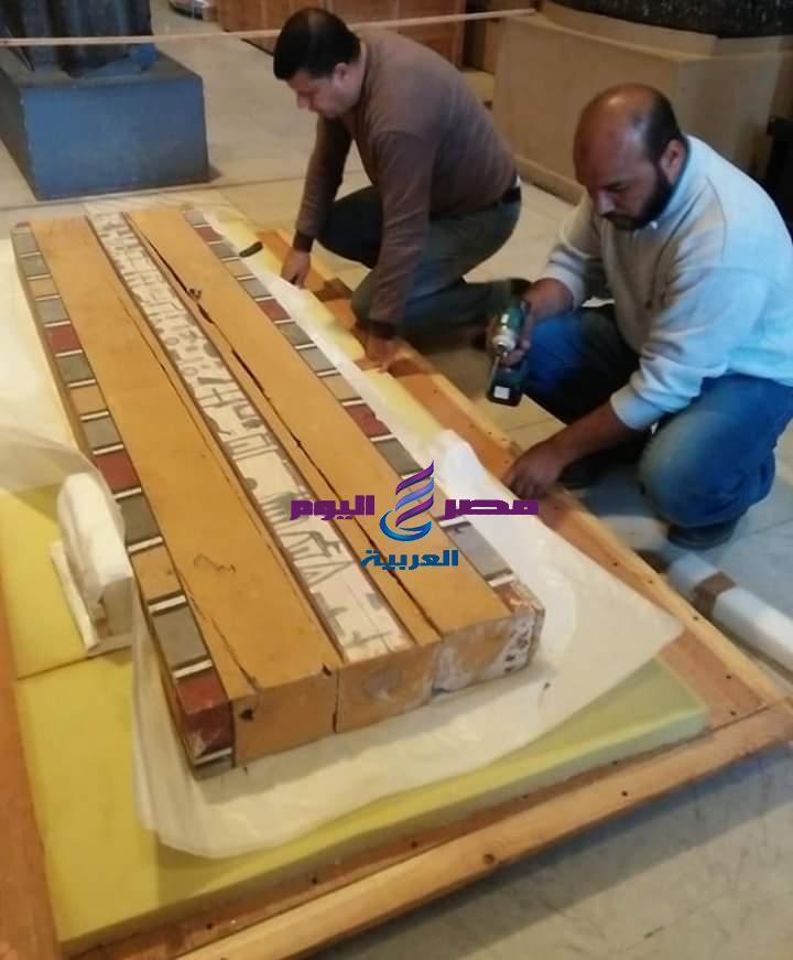 المتحف المصري الكبير يستقبل ٢٠٢ قطعة اثرية.  
