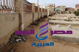 برلمان وطلائع مركز شباب المشاعل بأبوكبير يفعلون مبادره لتظيف مقابر قريتهم