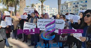 وقفة احتجاجية لاصحاب الشهائد العليا المعطلين عن العمل في نابل