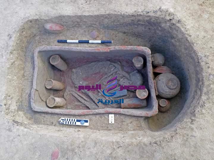 بالصور الكشف عن ٨٣ مقبرة بمنطقة آثار كوم الخلجان بمحافظة الدقهلية | بالصور الكشف