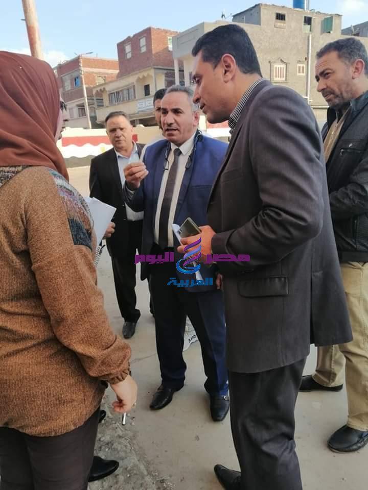تفقد إسلام نائب محافظ دمياط يرافقه الزيات بعض المدارس والوحدات المحلية بفارسكور