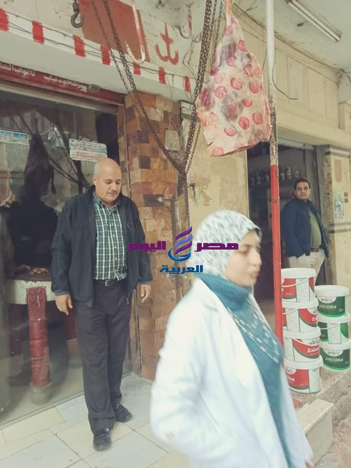 حملة مشتركة من مجلس مدينة الحسينية والتموين والصحة والطب البيطري بالحسينية - حملة مشتركة