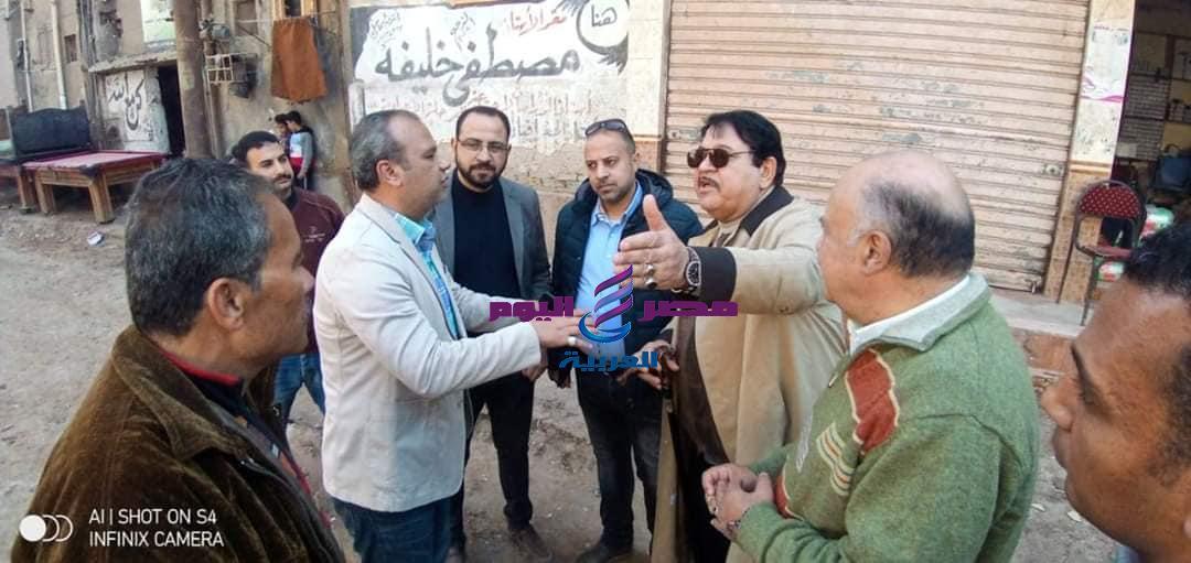 زين العابدين يتابع استكمال أعمال التطوير بمنطقة أبو شاهين نطاق حى اول المحله | زين العابدين