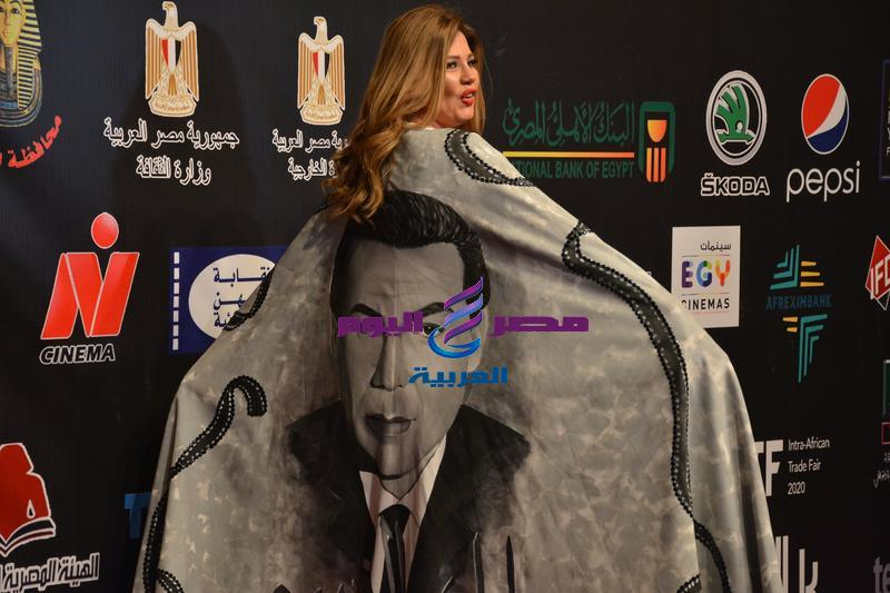 رانيا فريد شوقي تخطف الأنظار في مهرجان الأقصر | تخطف