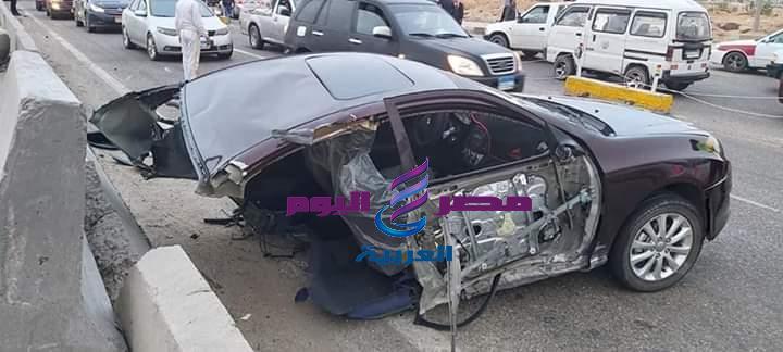 حادث مروري على طريق القاهرة الإسماعيلية الصحراوى.