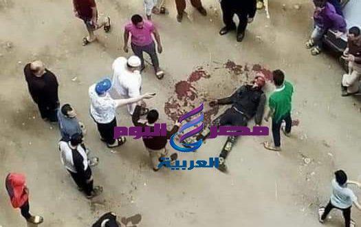 بالفديو جريمة قتل بشعة فى فيصل شارع الملكة كافية السفينة