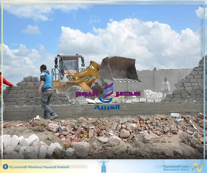 وحدة التدخل السريع بالإسكندرية تتصدى للبناء المخالف | تتصدى