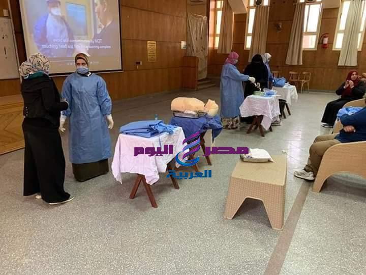 تدريب ما يزيد عن ١٠٠ من أعضاء هيئةالتمريض بمستشفى جامعة المنصورة الجامعى