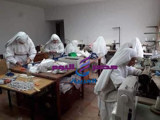 عاااااااجل  من مشغل دير الراهبات لصناعه الكمامات والزي الطبي | دير
