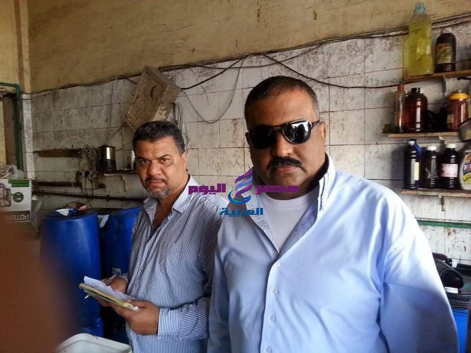 ضبط إحدى المحلات ببورفؤاد تبيع للمواطنين أرز صينى مجهول المصدر   ضبط إحدى