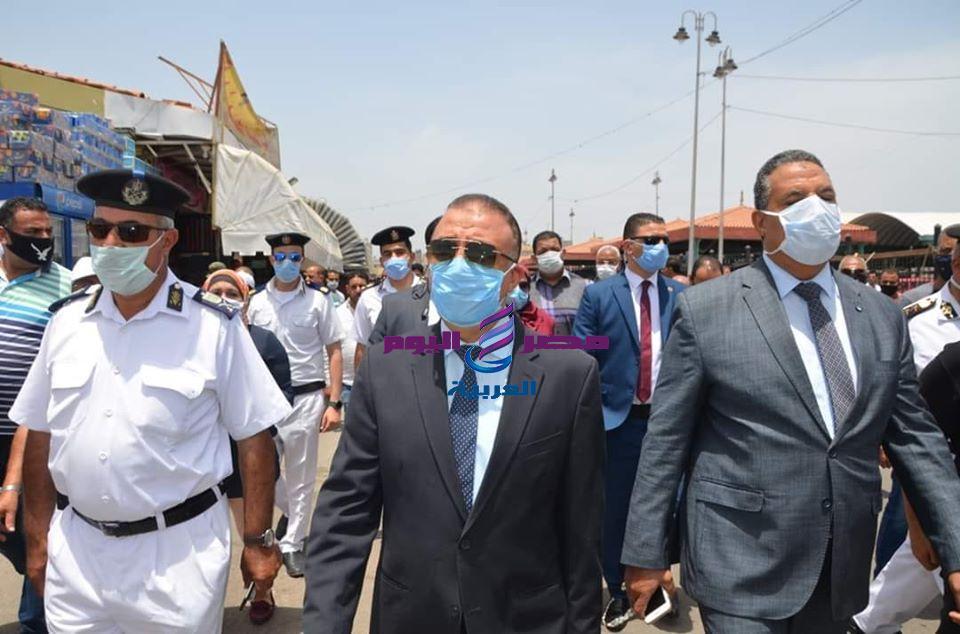 محافظ الإسكندرية يقود أكبر حملة ازاله يشهدها ميناء الإسكندرية البرى
