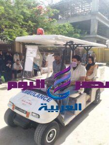 سيارة اسعاف جولف لنقل المرضى بالمراكز الطبية بجامعة المنصورة