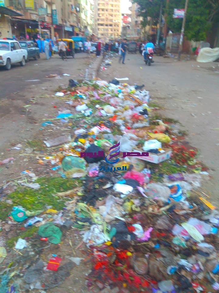 فشل ذريع لرئيس حى أول طنطا لإدارته أزمة القمامة والنظافة بشوارع حى اول طنطا
