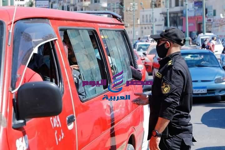عوض إتخاذ الإجراءات القانونية حيال 25 سائق لعدم التزامهم بإرتداء الكمامة الواقية   عوض