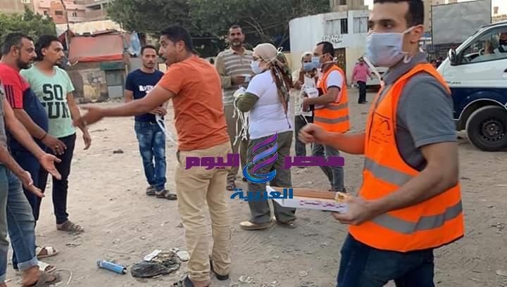 عن طريق نهر العطاء بمحافظة الغربية السيدة دعاء عريبى توزيع ٣٥ الف كمامه مجانا على المواطنين | نهر العطاء
