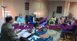 إجتماع د. أشرف بيجرمي مع وكلاء المديرية ورؤساء القطاعات محافظة القاهرة