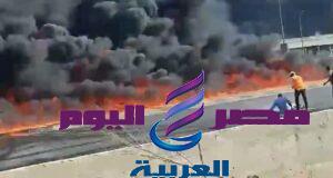 عاجل .. بالفيديو حريق هائل بطريق مصر اسماعيلية الصحراوي