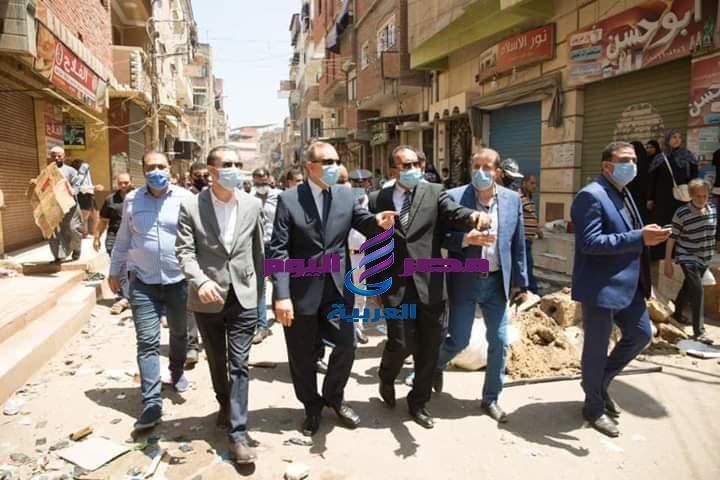محافظ كفرالشيخ يقود الحملة المكبرة لإزالة التعديات ورفع الإشغالات بغرب العاصمة