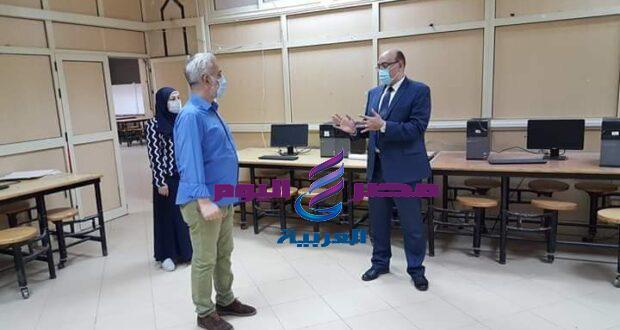 عطيه نائب رئيس جامعة المنصوره يتابع استعدادات كلية الفنون الجميلة لإختبارات الفصل الدراسي الثاني   نائب رئيس