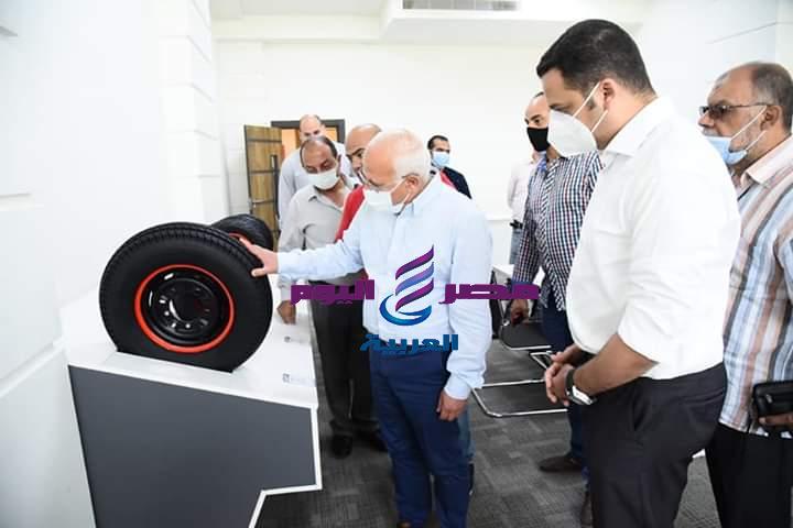 بتكنولوجيا ألمانيه وسواعد مصريه مصنع إنتاج الإطارات بالمنطقه الصناعيه   تكنولوجيا