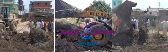 استمرار التصدي لمخالفات البناء والتعدي على الأراضى الزراعية بمركز ومدينة دسوق | استمرار التصدي