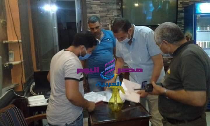 تحرير 5 محاضر لمقاهي بحي وسط مدينةالمنيا لمخالفة الإجراءات الاحترازية   تحرير 5 محاضر