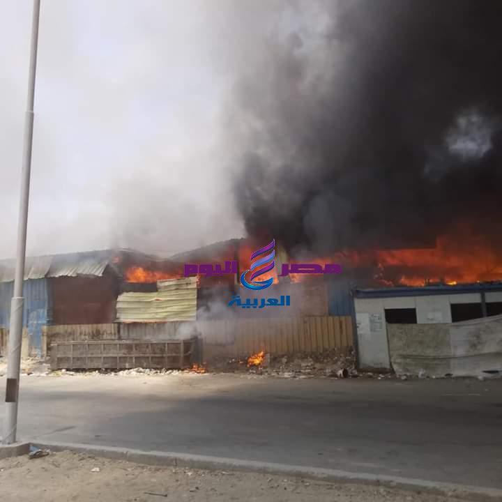 عاجل حريق هائل داخل سوق توشكى فى حلوان | حريق هائل