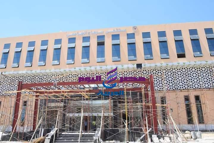 متابعة رئيس جامعة سوهاج لأعمال الانشاءات بالمستشفي الجامعي الجديد | جامعة سوهاج