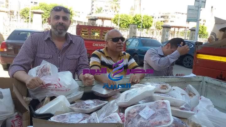 مخزن مواد غذائية بدون ترخيص ولحوم ودواجن منتهية الصلاحية في بني سويف