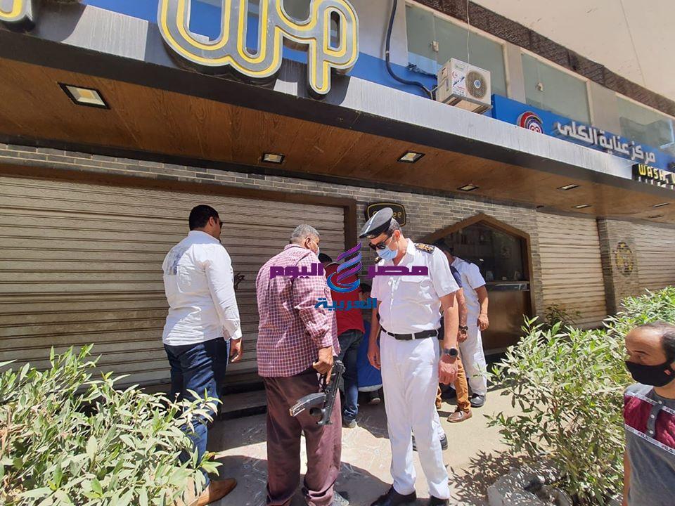 حملة مكبرة من مرافق الغربية وغلق الكافيهات والمحلات التجارية المخالفه بمدينة طنطا