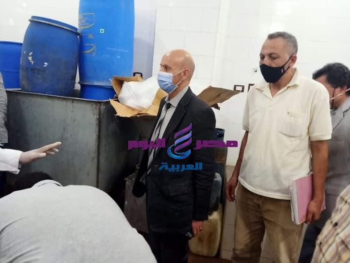 غلق مصنع للالبان غير مرخص بمدينة القنايات بالشرقية
