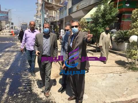 محافظ كفرالشيخ يتفقد أعمال الرصف بشوارع العاصمة