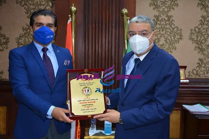 اللواء أسامة القاضي وأحمد سمير يدشنان رياضة الميني فوتبول بمحافظة المنيا   رياضة