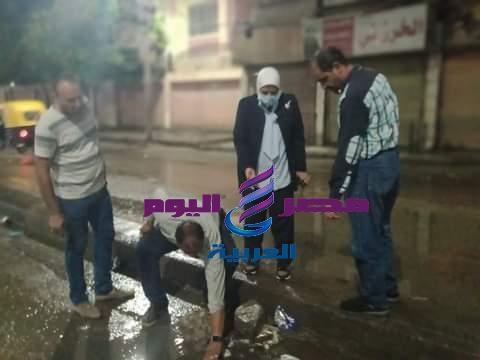 مواجهة سريعة للتخلص من مياه الأمطار من شوارع دسوق | مواجهة