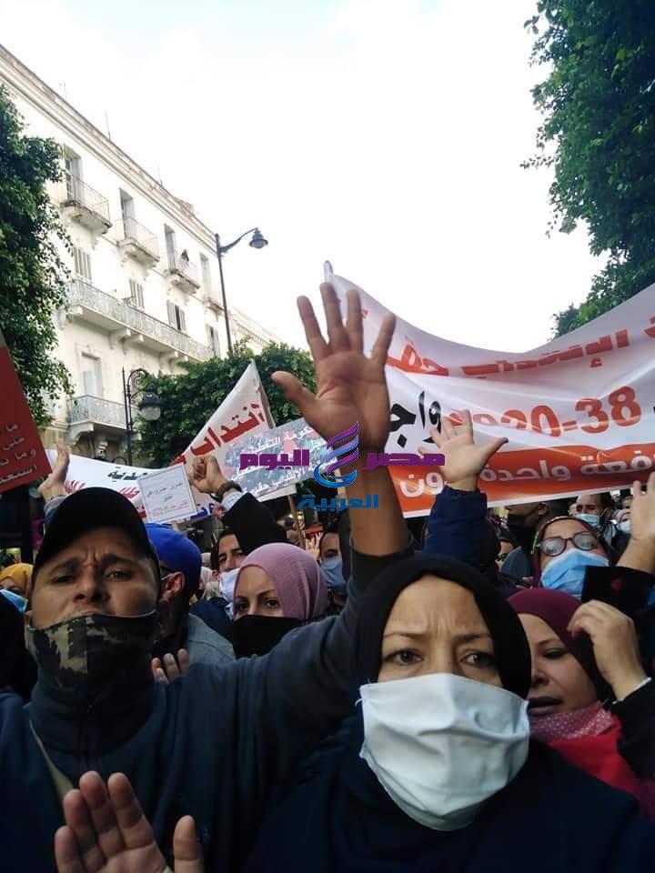 تونس وتتواصل الاحتجاجات للمعطلين عن العمل في تون | الاحتجاجات