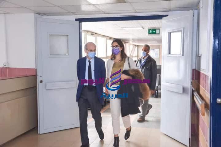 وفد طبى فرنسي في زياره لمركز الأورام جامعة المنصورة | فرنسي
