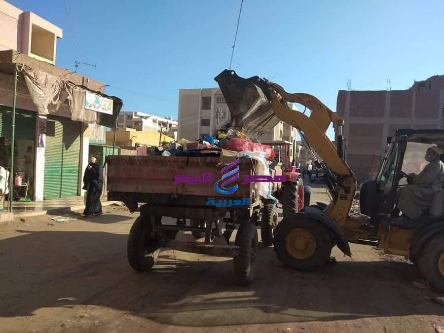 حملات نظافة مستمرة للحد من انتشار فيروس كورونا بجميع قرى محافظة الغربية