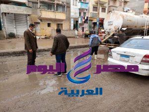 محافظ الدقهلية يتابع أعمال كسح مياه الامطار بعدد من المراكز والمدن   يتابع