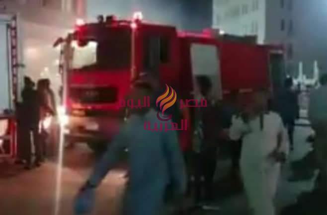 الحماية المدنية.. تسيطر على حريق اندلع بمخزن اثاث اسفل عمارة سكنية بالغردقة | الحماية
